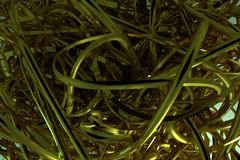 De samenstelling van decoratieve, illustratiescgi, bos van slordig koord geometrisch, voor de achtergrond van de ontwerptextuur H stock illustratie