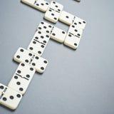 De samenstelling van dominobeenderen royalty-vrije stock foto