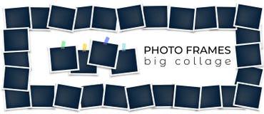 De samenstelling van fotokaders Vector Malplaatje stock illustratie