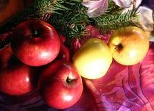 De samenstelling van het appelennieuwjaar Royalty-vrije Stock Afbeelding