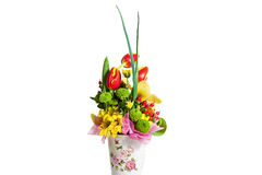 De samenstelling van het bloemboeket voor de vakantie, de lenteboeket van FL Stock Afbeeldingen