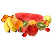 De samenstelling van het fruit Stock Foto's
