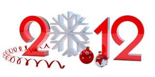 De samenstelling van het nieuw-jaar Royalty-vrije Stock Afbeelding