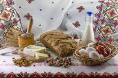 De samenstelling van het voedsel in landstijl Royalty-vrije Stock Afbeeldingen