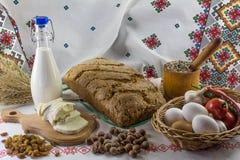 De samenstelling van het voedsel in landstijl Royalty-vrije Stock Fotografie