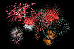 De Samenstelling van het vuurwerk Stock Foto