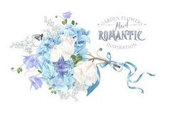 De samenstelling van de hydrangea hortensialente Royalty-vrije Stock Foto's
