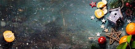 De samenstelling van Kerstmis Royalty-vrije Stock Foto's