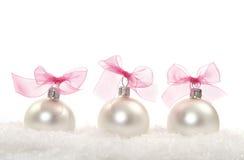 De samenstelling van Kerstmis met Kerstmisballen Stock Afbeeldingen