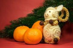 De samenstelling van Kerstmis Symbool van 15 nieuw jaar Royalty-vrije Stock Foto