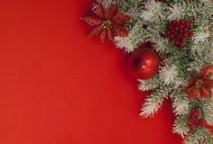 De samenstelling van Kerstmis voor groetkaart. Royalty-vrije Stock Fotografie