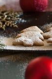 De samenstelling van Kerstmiskoekjes Stock Fotografie