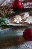 De samenstelling van Kerstmiskoekjes Stock Afbeelding