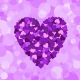 De samenstelling van valentijnskaarten van de harten Royalty-vrije Stock Foto