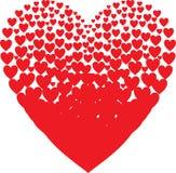 De samenstelling van valentijnskaarten van de harten Vector Royalty-vrije Stock Afbeeldingen