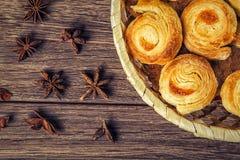 De samenstelling van vers gebakken gebakje Royalty-vrije Stock Foto