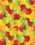 De samenstelling van vruchten Stock Afbeeldingen