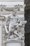 De samenstelling werkt van Hercules voor Hofburg-Paleis A royalty-vrije stock afbeeldingen