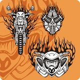 De samenstellingen van de motorfiets - reeks 12 Royalty-vrije Stock Afbeeldingen