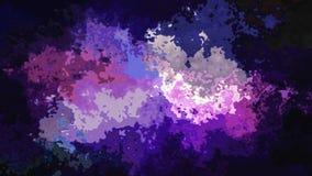 De samenvatting animeerde bevlekte achtergrond naadloze lijn video purpere kleuren stock video