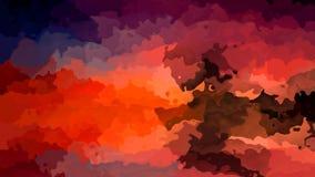 De samenvatting animeerde bevlekte achtergrond naadloze lijn video rode oranje purpere bruine blauwe kleuren stock footage