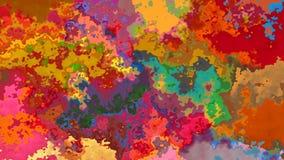 De samenvatting animeerde de bevlekte geschakeerde kleur van de achtergrond naadloze lijn videowaterverf effect stock footage