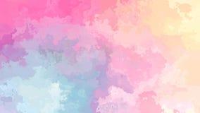 De samenvatting animeerde de bevlekte gradiënt van de achtergrond naadloze lijn video leuke zoete kleur royalty-vrije illustratie