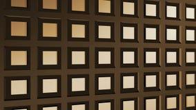 De samenvatting animeerde bruine computerachtergrond vector illustratie