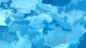 De samenvatting animeerde het bevlekte blauw van de achtergrond naadloze lijn videohemel stock video