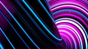 De samenvatting animeerde violette motieachtergrond van het spinnen van gebieden met lijnen en golven op zwarte achtergrond Spinn royalty-vrije illustratie