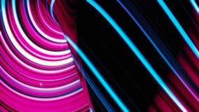 De samenvatting animeerde violette motieachtergrond van het spinnen van gebieden met lijnen en golven op zwarte achtergrond Spinn stock illustratie