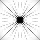 De samenvatting barstte element in het knippen van masker Radiaal, uitstralend lijnen Stock Foto
