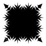De samenvatting barstte element in het knippen van masker Radiaal, uitstralend lijnen Royalty-vrije Stock Foto