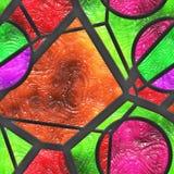 De samenvatting bevlekte glas/metaal- rooster Stock Afbeelding