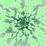 De samenvatting centraliseerde groenachtige achtergrond vector illustratie