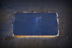 De samenvatting detailleerde grijze van de metaalmuur textuur als achtergrond van schipdetail met naden en klinknagels Gesloten b Royalty-vrije Stock Foto's