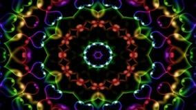 De samenvatting explodeert Uitgespreide Vlotte Sier Decoratieve Geometrische de Caleidoscoopbeweging van het Concepten Symmetrisc stock footage