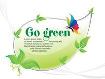 De samenvatting gaat groene achtergrond stock illustratie