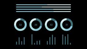 De samenvatting geanimeerde pagina van het gegevensrapport royalty-vrije illustratie