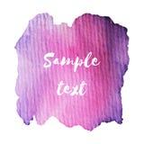 De samenvatting isoleerde waterverfhand getrokken document textuurvlek op witte achtergrond voor tekstontwerp, Web, etiket Stock Foto's
