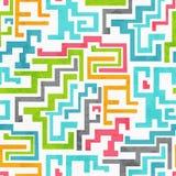 De samenvatting kleurde geometrisch naadloos patroon met grungeeffect Royalty-vrije Stock Foto