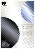 De samenvatting kleurde geometrische achtergrond met ballen en strepen stock illustratie