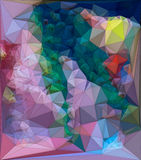 De samenvatting kleurde veelhoekige driehoekige mozaïekachtergrond het 3d teruggeven Royalty-vrije Stock Foto's