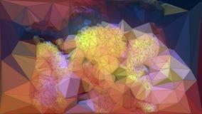 De samenvatting kleurde veelhoekige driehoekige mozaïekachtergrond het 3d teruggeven Stock Foto