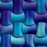 De samenvatting maakte blokken rond voor naadloze achtergrond - decoratiemateriaal worden gestapeld - blauwachtige oppervlakte di royalty-vrije illustratie