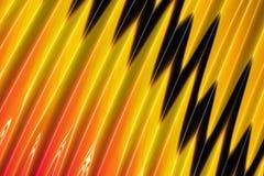 De samenvatting plooide rode gele en zwarte achtergrond stock foto