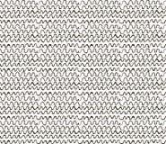 De samenvatting schetste van Gekrabbelgolven Naadloos Patroon Als achtergrond Stock Foto