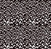 De samenvatting schetste Zwart Bladeren Naadloos Patroon Als achtergrond Stock Afbeelding