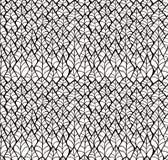 De samenvatting schetste Zwart Bladeren Naadloos Patroon Als achtergrond Royalty-vrije Stock Foto's