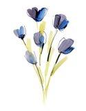 De samenvatting schilderde bloemenachtergrond Stock Afbeeldingen